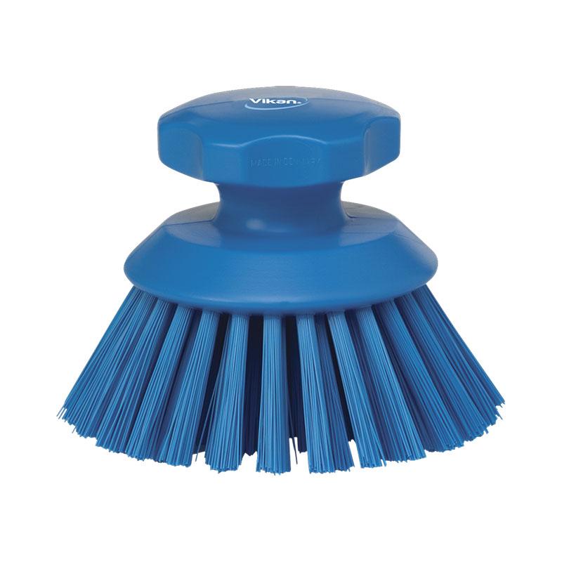 Round Hand Scrub Brush, Stiff Bristle, 130 Mm