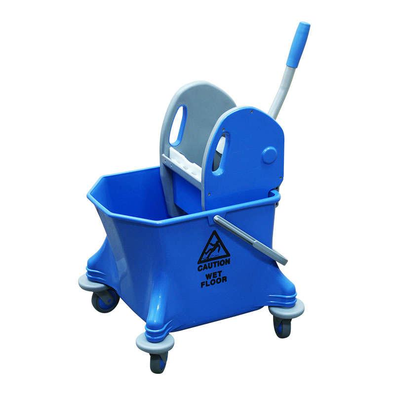 Mop Bucket On Wheels, Short, 25 Litre