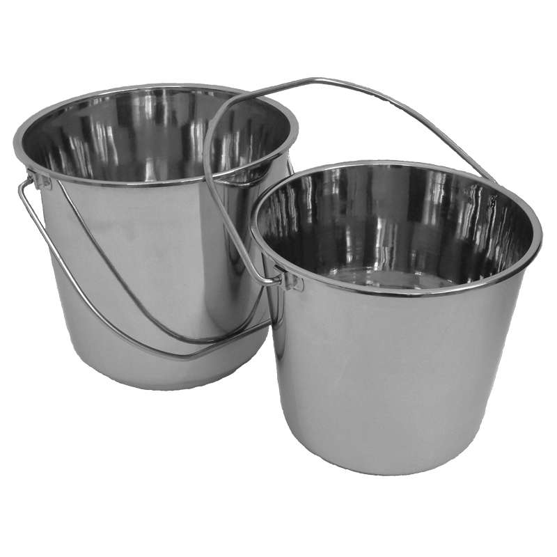 Bucket, Stainless Steel, 12 Litre