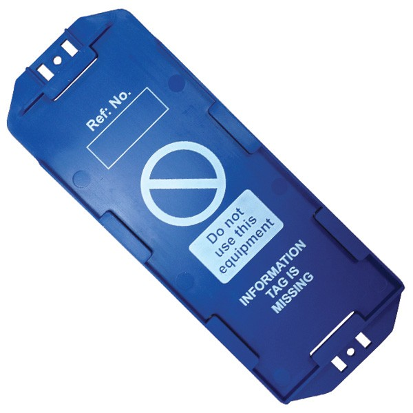 Detectable Max Asset Tag Holder, Blue
