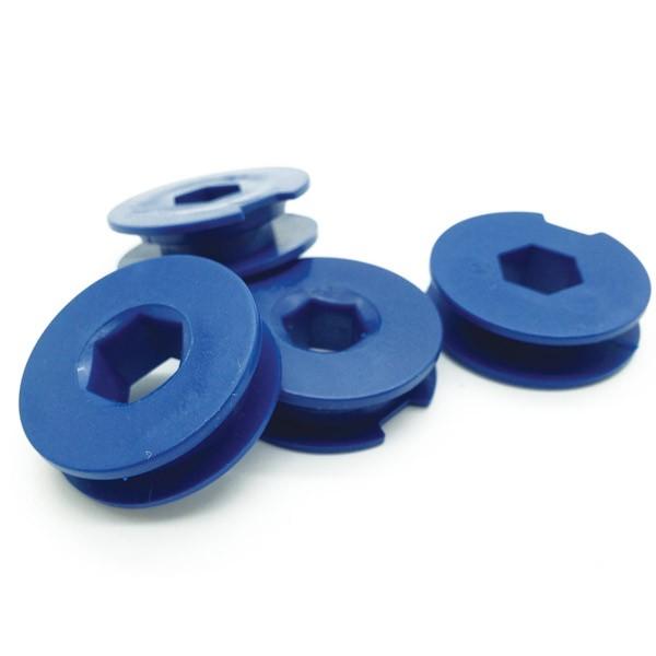 Detectable Retaining Clips, Single Hex, 100 Pk