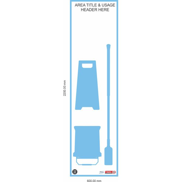 5S Shadow Board, Floor Mopping Kit