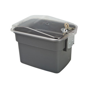 Cloth Box W/ Lockable Lid, 7 Litre