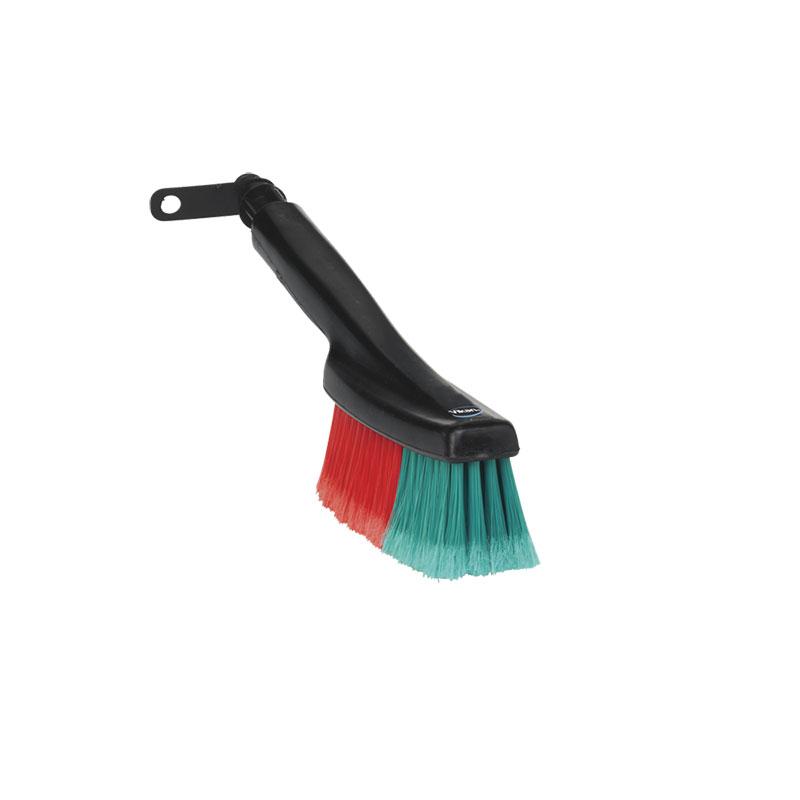 Vehicle Hand Brush, Waterfed, Swivel Neck, Soft/Split Bristle