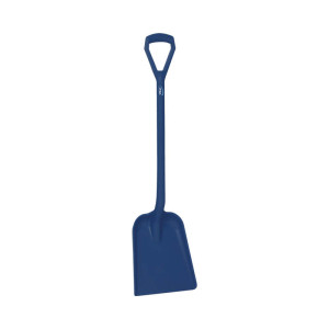 Detectable Shovel, D Grip, Short Handle, Large Blade