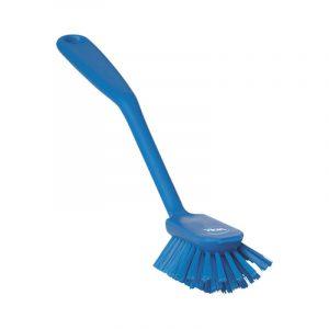 Vikan Dish Brush W/ Scraping Edge, Stiff Bristle