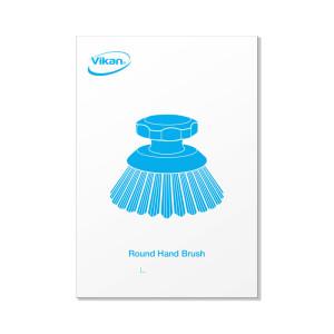 Picture Plate. Round Hand Scrub Brush