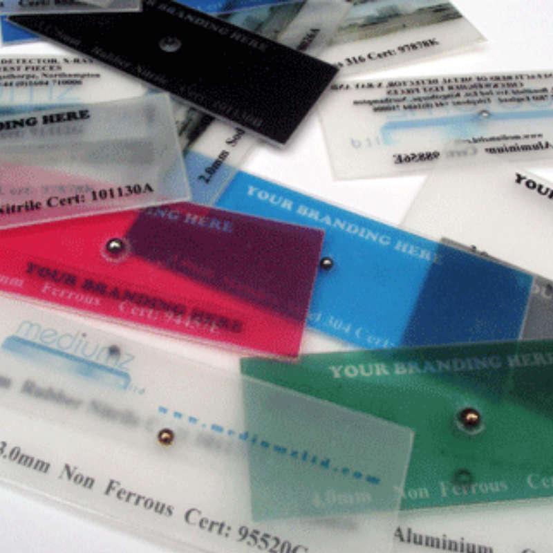 Xray Test Card, Single Point, Aluminium
