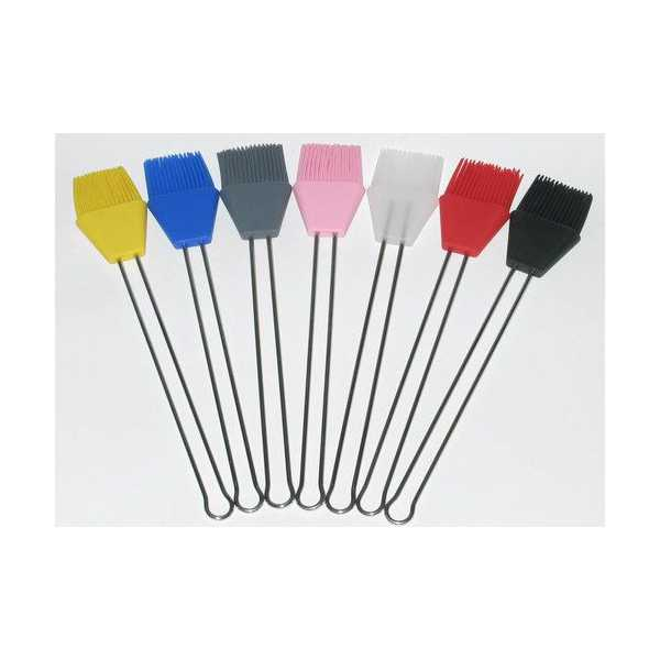 High Temp Silicone Brush, Stainless Wire Handle 50mm
