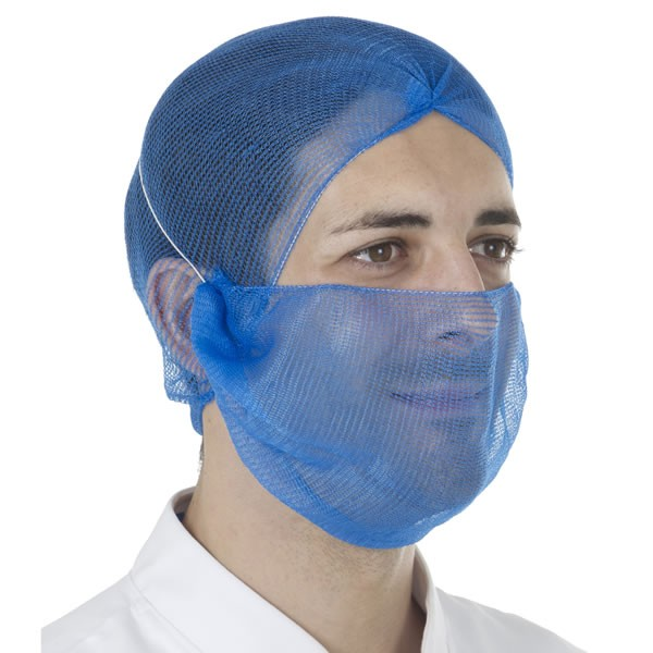 Detectable HiCare Beard Snood, Blue