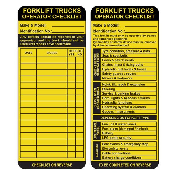 Insert For Max Asset Tag, Forklift