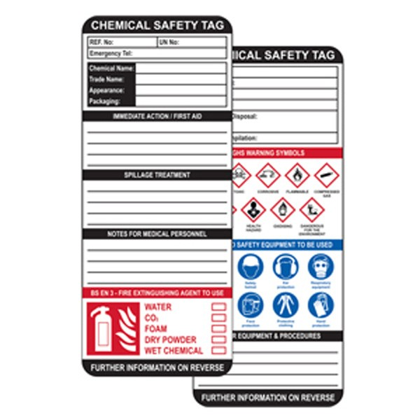 Insert For Max Asset Tag, Chemical