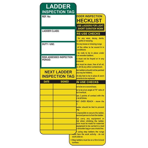 Insert For Asset Tag, Ladder Safety