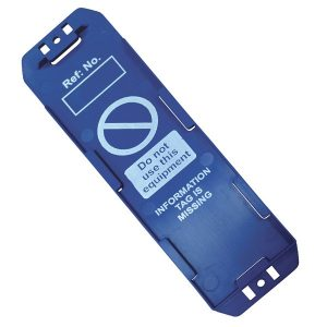 Detectable Asset Tag Holder, Blue