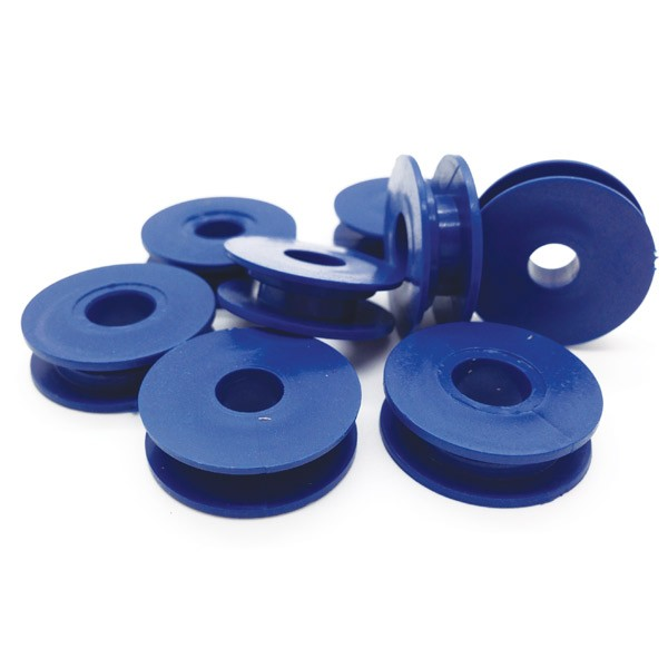 Detectable Retaining Clips, Single Round, 100 Pk