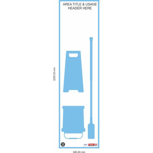 5S Shadow Board, Floor Mopping Kit