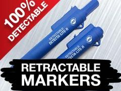 World's Safest Detectable Retractable Markers