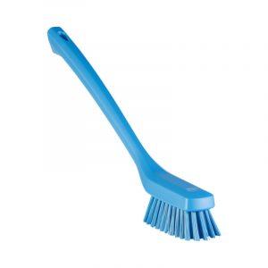 Vikan Narrow Cleaning Brush With Long Handle, 420mm, Hard Bristles